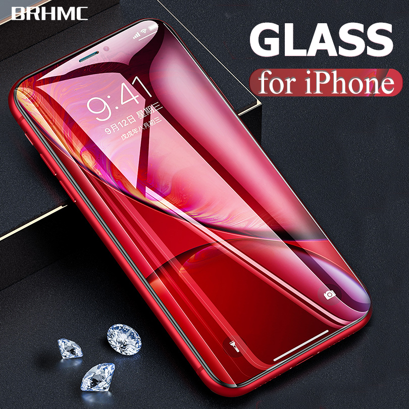 9D Full Cover Curved Tempered Glass For IPhone 7 X 8 6 6s Plus Screen Protector Film For IPhone XS MAX Protection Glass Film