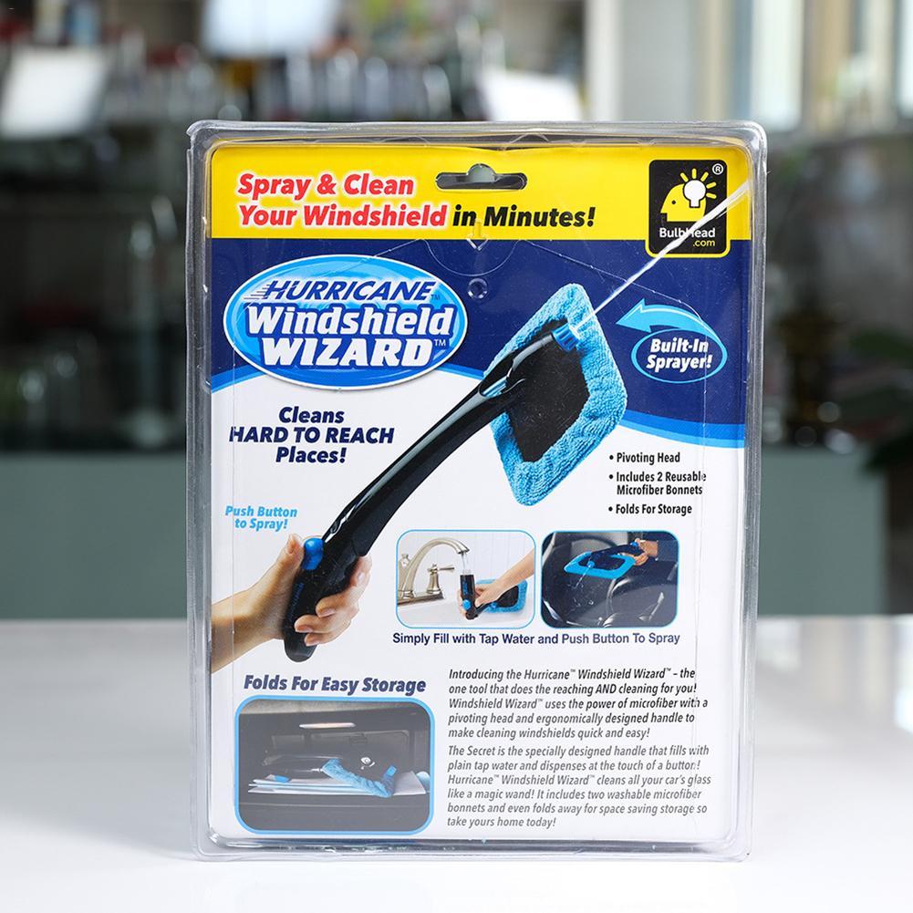 microfibra pulverizador embutido ferramentas de escova de limpeza de vidro longo punho