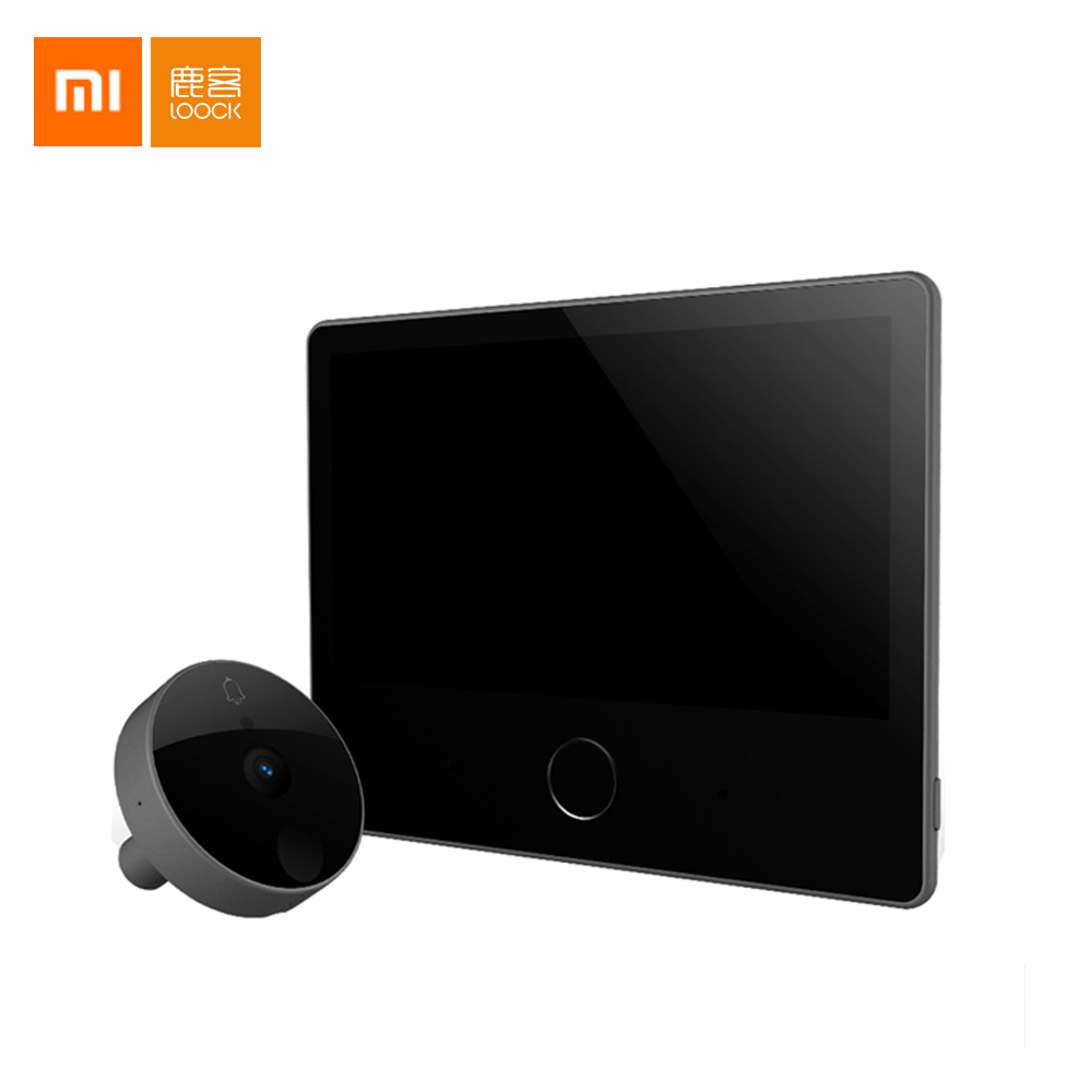 Xiaomi Mijia LOOCK Smart Door Video doorbell Cat Eye Youth Edition CatY Rechargable IPS 7 inch Screen Display Mijia APP Control image