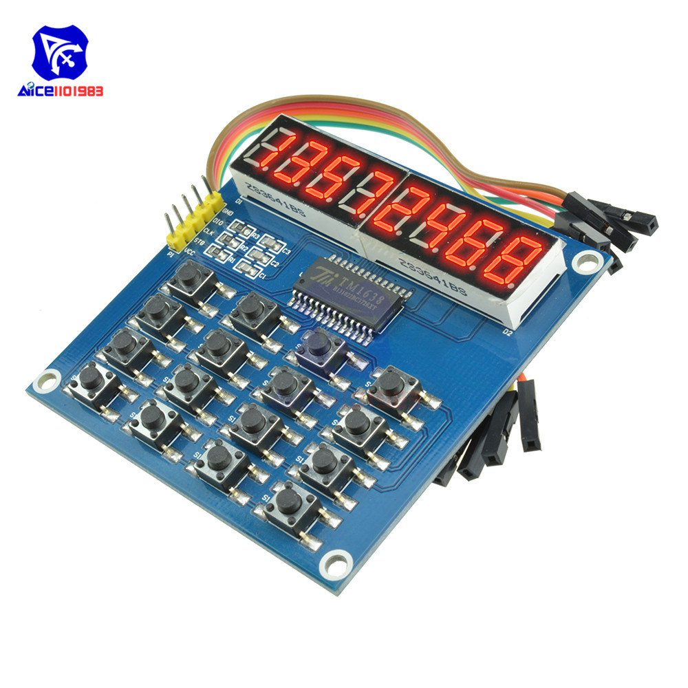 TM1638 8-Bit LED Digit Tube Display Module 16 Keys Keyboard Switch Button Module for Arduino with 4 Pin Dupont Wire(China)