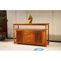 Antique Wooden Plain Four Door Sideboard Hedgehog Rosewood Dining Room Furniture Classical Drawers