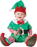 Santa Claus elk costume Promotion Santa's Little Elf Baby Costume Christmas Holiday Party Dressing Up for Infant Age 12m 18m