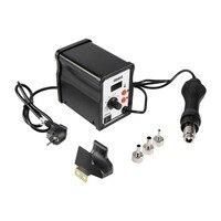 700W LED Digital SMD Soldering Heat Gun Desoldering Station Hot Air Rework Gun Tool With 3