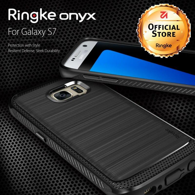 imágenes para Ringke Onyx Fundas para Samsung Galaxy Caso de TPU Flexible Defensiva para Galaxy S7 S7 borde Caso