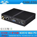 4G RAM 320G HDD Mini PC 12v for Office with Intel Quad Core N3510 2.0 GHz HD 2 COM Ports Industrial Mini Computer