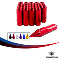 PQY RACING- 20PCS BX STYLE ALUMINUM EXTENDED TUNER LUG NUTS WITH SPIKE FOR WHEELS/RIMS M12X1.5 PQY- ELB1215