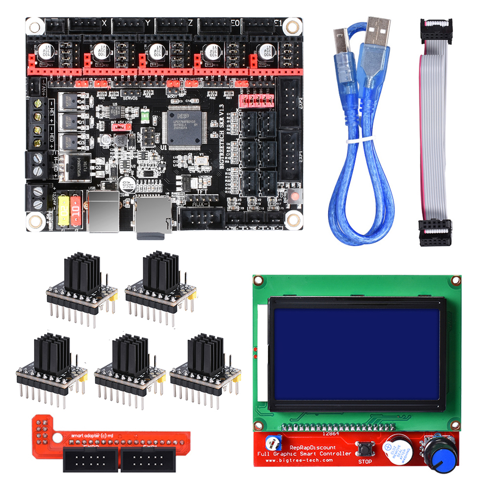 BIGTREETECH SKR V1.3 Board 32-Bit Smoothieboard+12864 LCD+TMC2130/TMC2208/A4988 Driver Reprap MKS GEN L for 3D Printer parts BIGTREETECH SKR V1.3 Board 32-Bit Smoothieboard+12864 LCD+TMC2130/TMC2208/A4988 Driver Reprap MKS GEN L for 3D Printer parts