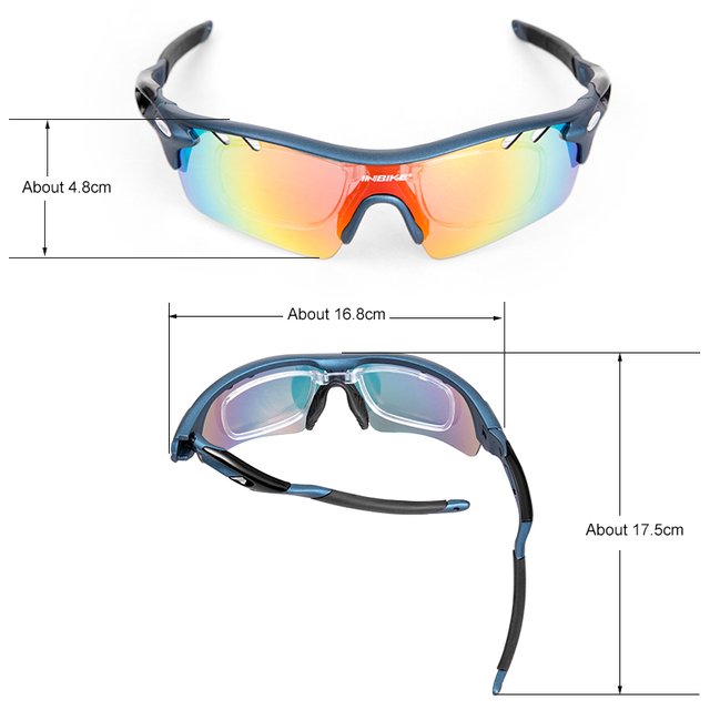 Cycling Polarized Sunglasses Goggles for Men & Women with TR90 Frame