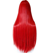 80cm Foxfire Ahri Homestuck Erza Scarlet Sally Long Straight Vocaloid Synthetic Cosplay Wig For Halloween With Bangs