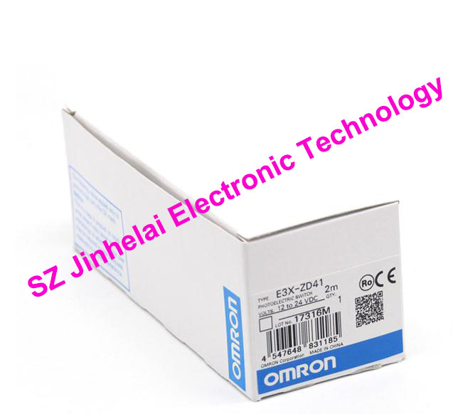 New and original  E3X-ZD41  OMRON Photoelectric switch   Optical fiber amplifier   NPN   12-24VDC   2M [zob] new original omron omron photoelectric switch e3s at11 2m e3r 5e4 2m