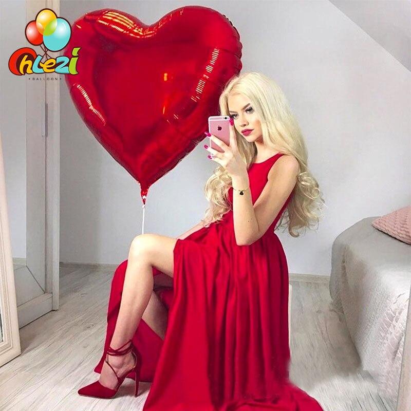 32 дюйма 75 см «любящее сердце» Форма алюминиевой фольги Воздушные шары на день рождения вечерние украшения воздушный шар с гелием свадебное украшение чистое Globos-0