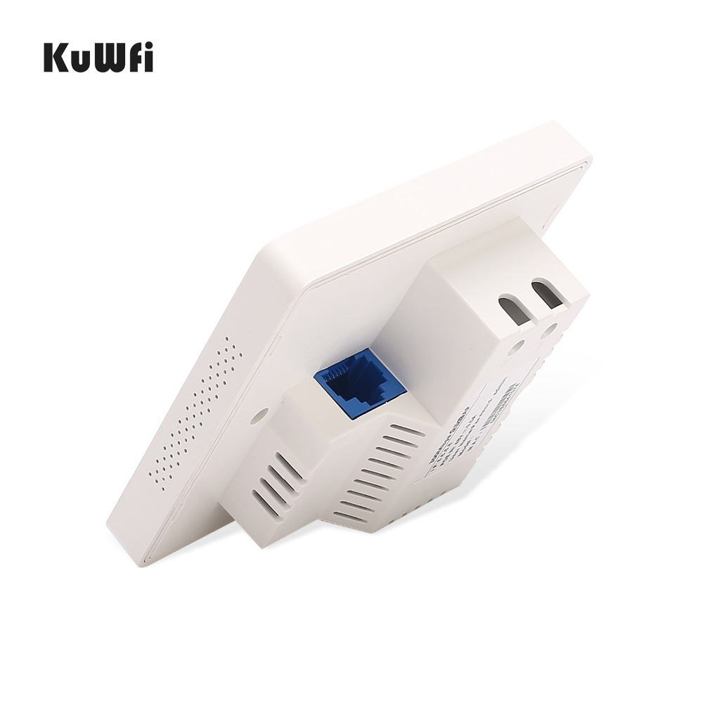 Image 4 - KuWFi 300Mbps Wireless Wifi Router Indoor In wall POE AP Router for Hotel/Dormitory/Hospital/Villa Support 20users-in Wireless Routers from Computer & Office