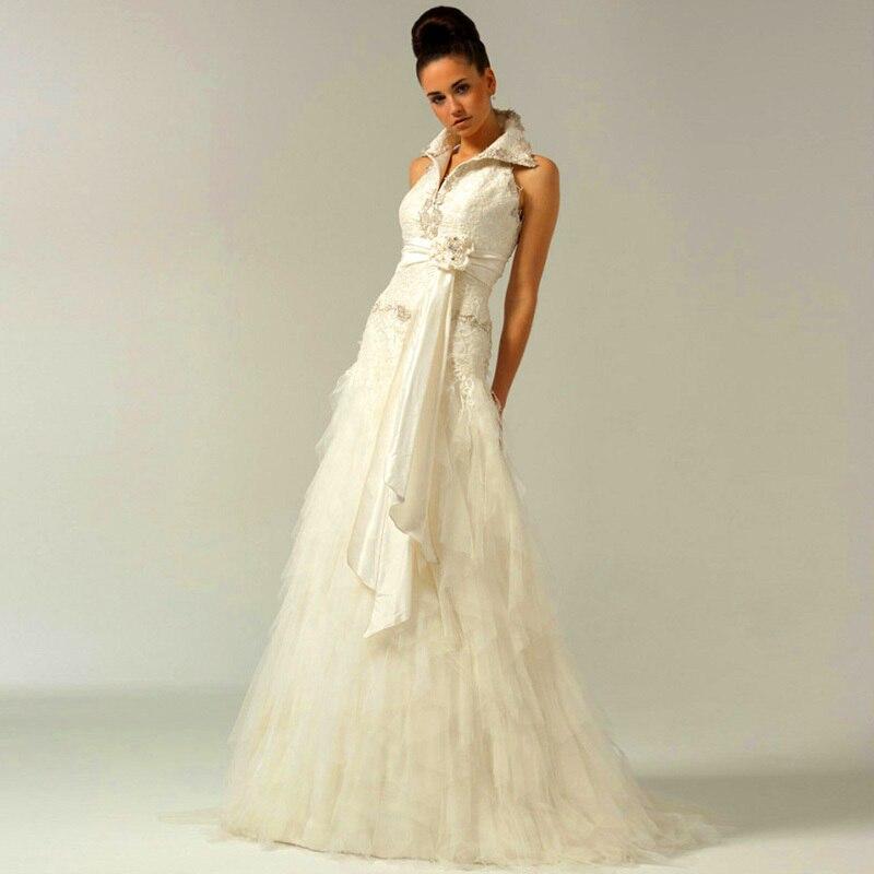 New designer dresses 2015 women high quality halter v neck for Designer wedding dresses outlet