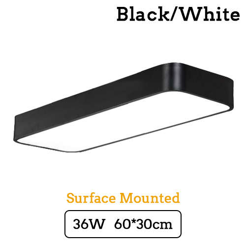 Ceiling Lights Lights & Lighting Modern Led Ceiling Light Lamp Lighting Fixture Surface Mount Rectangle Panel Remote Control Office Bedroom Living Room 110v 220v