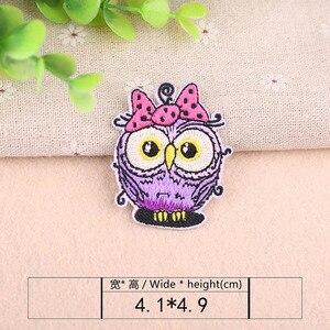 Накладки для вышивки совы, 1 шт., утюжок для шитья одежды, наклейки для одежды «сделай сам», декоративные аппликации 47317