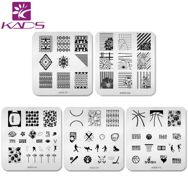 Kads PcsSet Elegant Flower Design Nail Art Stamp Template