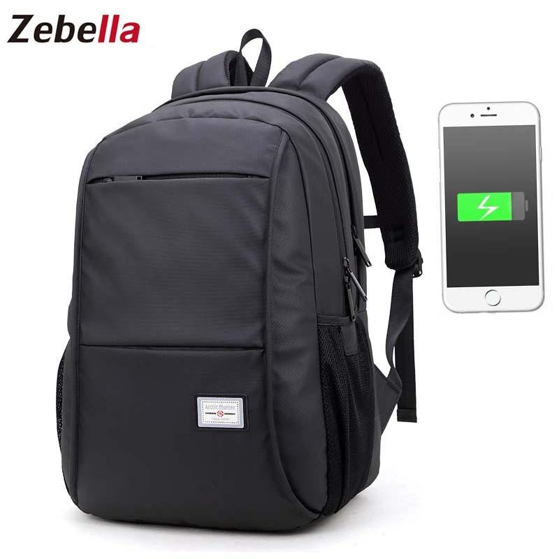 Zebella Waterproof Brand 15.6 Inch Men Laptop Backpack USB Charging Anti theft  Male Travel Backpack Teenager Bagpack MochilaZebella Waterproof Brand 15.6 Inch Men Laptop Backpack USB Charging Anti theft  Male Travel Backpack Teenager Bagpack Mochila