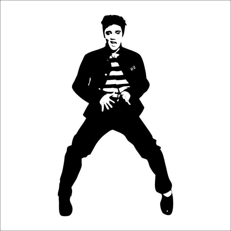 ELVIS PRESLEY black home decal wall sticker /dancing ...