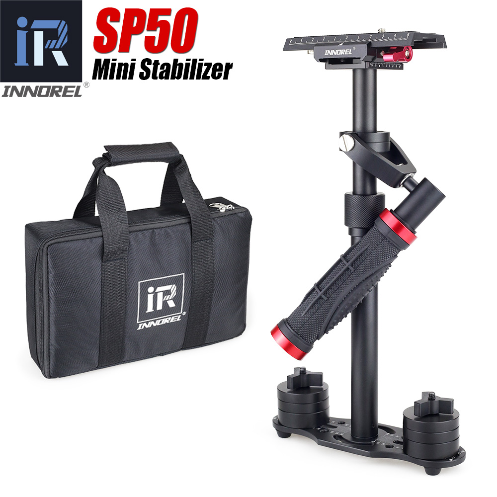 INNOREL SP50 Aluminum Alloy Mini Steadicam Handheld Stabilizer Portable Video Steadycam For Canon Nikon Sony DSLR Camera VS S40