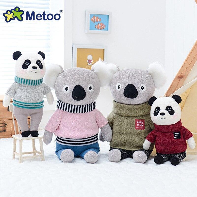 Metoo Doll Soft Plush Toys Stuffed Animals For Girls Baby Cute Cartoon Koala Panda For Kids Boy Children Christmas Birthday Gift