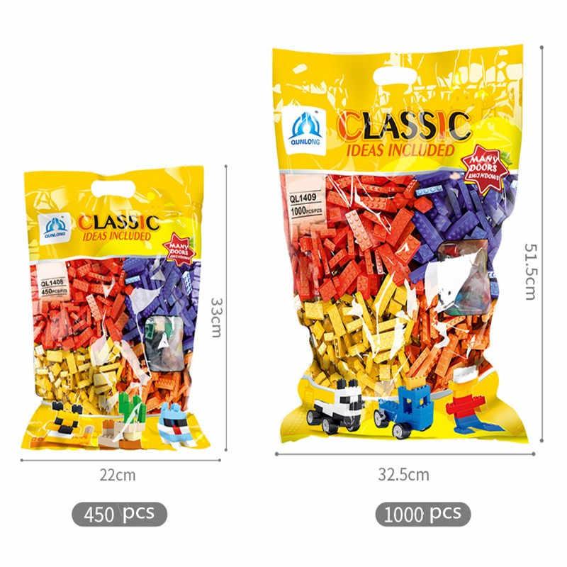 Dubbi 1000 шт. 450 шт. строительные блоки diy кирпич с аксессуарами наборы совместимые legoe развивающие игрушки оптом для детей подарок