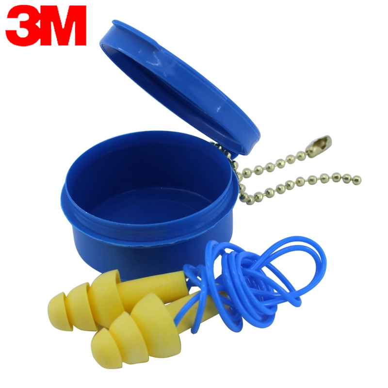 3M Earplug 340-4002 Ear Plug To Sleeping Christmas Tree Silicon EarplugBelt Straps With Box NRR25 SNR32 GM001