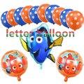 13pcs/lot Nemo Finding Dory fish Globos Foil Balloons Latex Balloons Kids Toys ocean sea theme Birthday Party Supplies