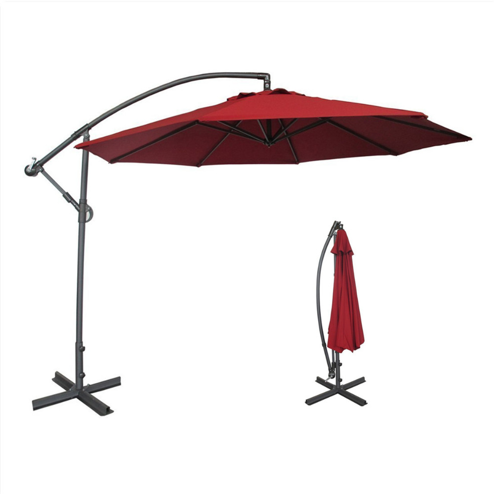 Abba Patio 10 Ft Offset Cantilever Patio Umbrella With Base And Crank Air  Vented Top Red In Patio Umbrellas U0026 Bases From Furniture On Aliexpress.com  ...
