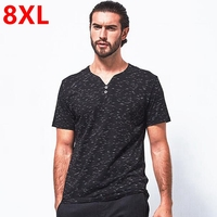 Big Size Casual Plus Size T Shirt Short Sleeve Summer New Arrival Male 100 V Neck