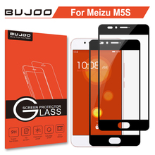 2 Pack 100% Original BUJOO Real 2.5D 0.3mm 9H Full Cover Screen Protector Tempered Glass For Meizu M5S Meilan 5S M HD Film