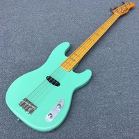 2017 New Arrival High Quality 4 Strings Tele Bass Guitar Surf Green Tele Telecaster Bass Wholesale