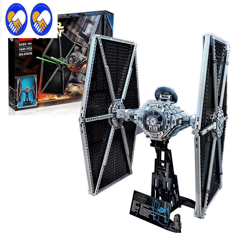 A Toy A Dream NEW 1685pcs Lepin 05036 Star War Series Tie Friend Building Educational Blocks Bricks Toys Compatible with 75095 a toy a dream lepin 02043 718pcs building blocks bricks new genuine city series airport terminal toys for children gifts