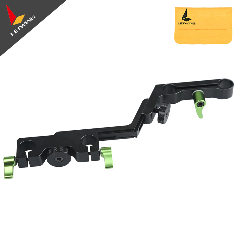 Lanparte OFC-02 Adjustable Z-shape Offset Clamp for 15mm Rail System Rig DSLR Video Rig lanparte ofc 02 adjustable z shape offset clamp for 15mm rail system rig dslr video rig