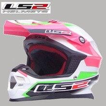 Free shipping genuine LS2 MX456-2 professional off-road helmet motorcycle helmet full helmet with airbag / Green Pink Preferred