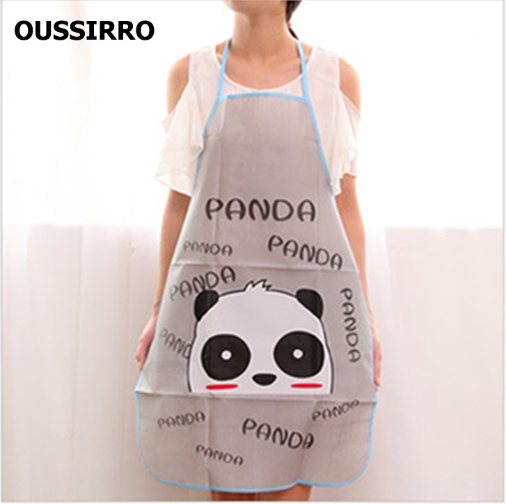 lovely cartoon cooking apron funny bbq party apron waterproof pvc baking kitchen cooking apron 8 style - Cooking Aprons