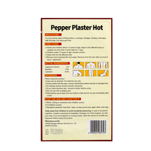 5 Bags Health Care Medical Plasters Tiger Balm Pepper Plaster for Joint Pain