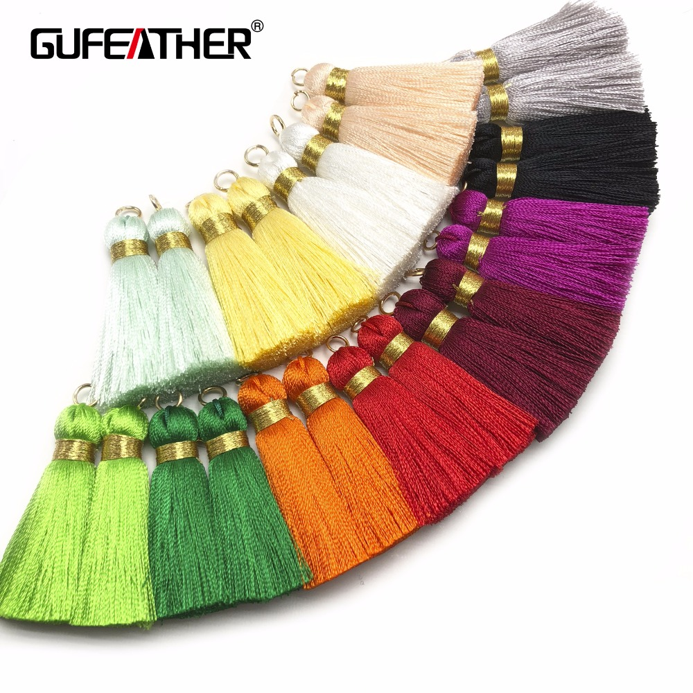 GUFEATHER L114/4CM/Silk Tassel/jewelry Accessories/DIY Jewelry/earrings Production/diy/for Earings/embellishments/4pcs/bag