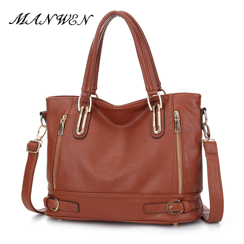 Handbag Vintage PU Leather Female Fashion Messenger Bag Women Shoulder Bag Larger Top-Handle Bags Travel Bag