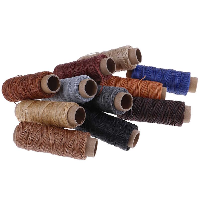 Encerado hilo de coser para zapatos de cuero de costura a mano utensilio para manualidades mano costura DIY hilo para coser cuero 50 m/rollo