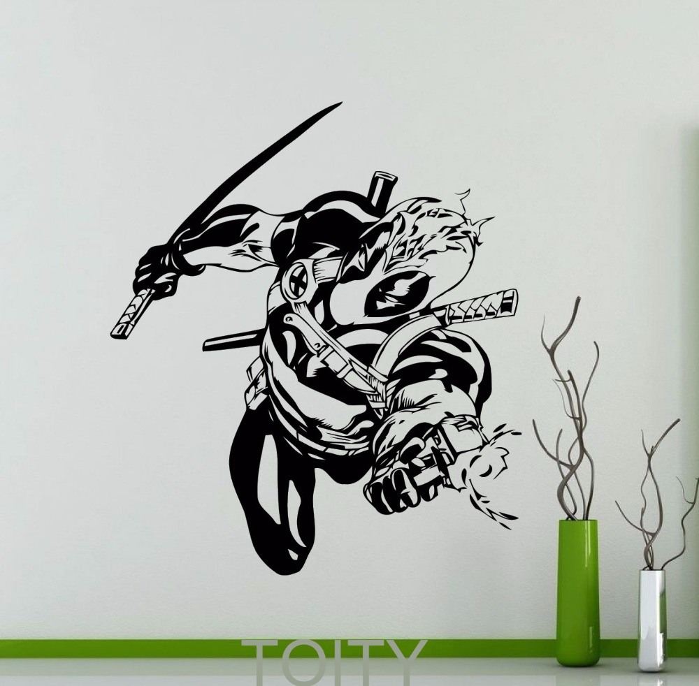 Buy deadpool wall sticker dc marvel for Stickers de pared