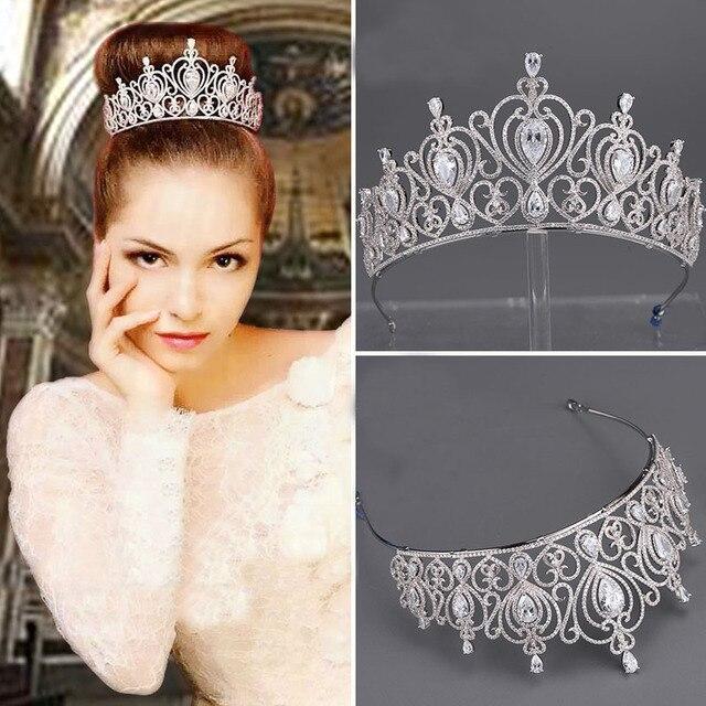 c1264a571b3950 Neue kunstform legierung einfügen großes kleines kopf verziert braut tiara  hochzeit krone braut haarschmuck