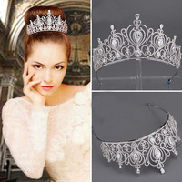 New hình thức nghệ thuật hợp kim chèn great little head trang trí bridal tiara vương miện cưới cô dâu phụ kiện tóc