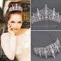 Nueva forma de arte aleación insertar pequeño gran decorado cabeza nupcial corona de la boda tiara nupcial accesorios para el cabello