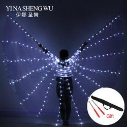 2018 Новый Для женщин Belly Dance Реквизит 360 градусов светодиодный блестящими крыльями для танцев для девочек Крылья Ангела открытия реквизит