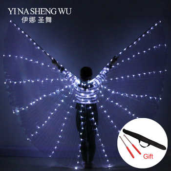 NEW Women Belly Dance led wings 360 Degree LED Shining Wings Girls Dance Wings butterfly Split Wings LED Dance With Stick крылья - DISCOUNT ITEM  47 OFF Novelty & Special Use