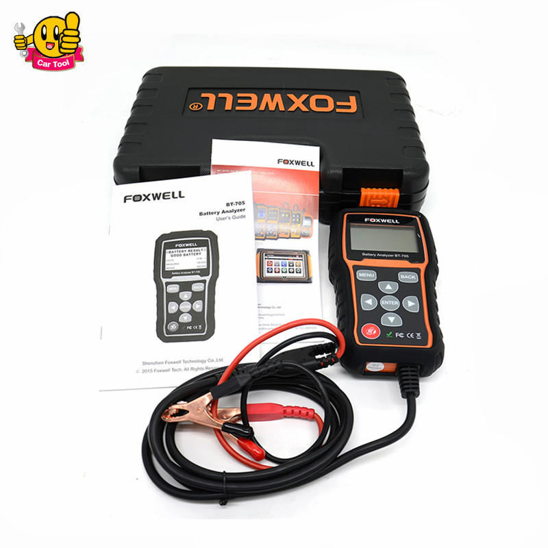100% Oringinal Foxwell BT705 BT-705 12 Volt Battery Analyzer Tester Directly Detect Bad Car Cell Battery
