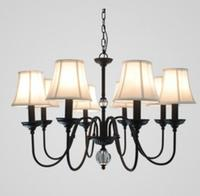Multiple Chandelier Iron crystal fabric living room lights engineering rustic wrought iron restaurant hotel lighting lamps|chandelier iron|hotel lightingwrought iron lamp -