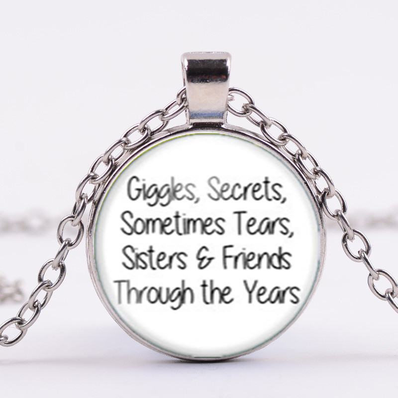 To My Sister In Law I Love You Cabochon Glass Tibet Silver Keychain Pendant