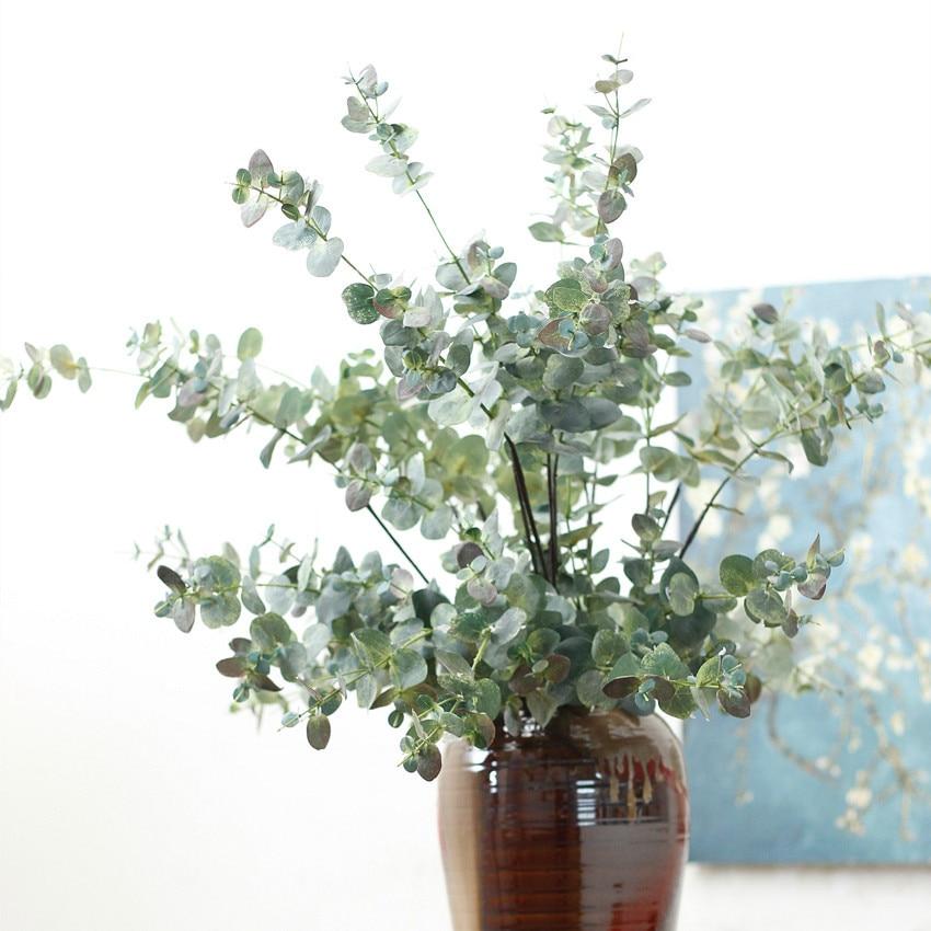 Buy artificial eucalyptus leaf green for Plante verte decorative