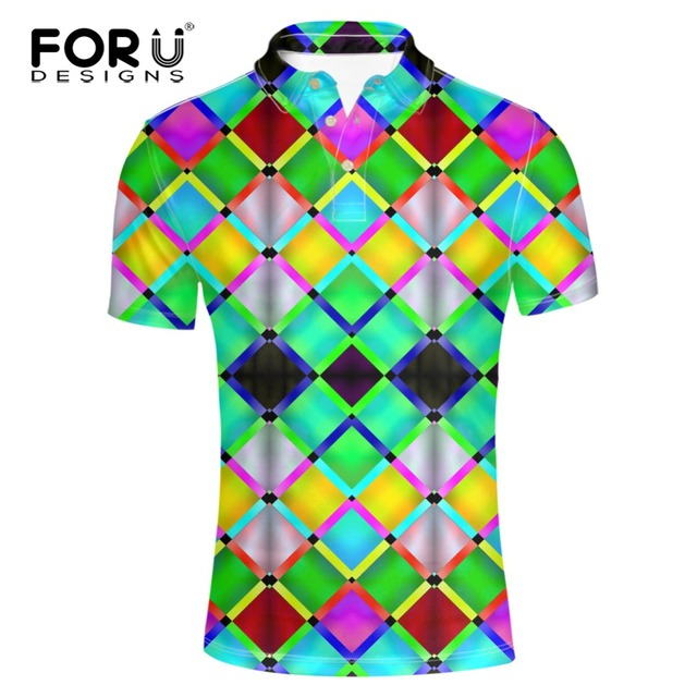 FORUDESIGNS Высокое Качество Яркие цвета Одежды Polo Рубашки для Мужчин Мода спандекс Quick Dry С Коротким Рукавом Мужчина Случайно Polo рубашка